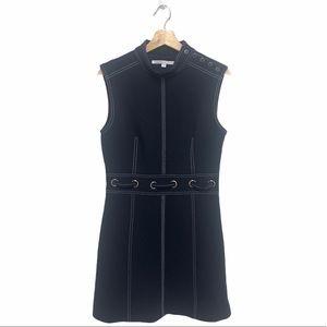VERONICA BEARD Niko Contrast Stitch Mini Dress